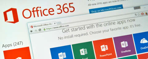 Microsoft Office 365 website