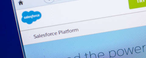 Salesforce website displayed on a computer screen
